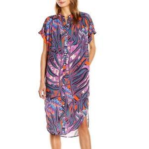 Mara Hoffman Herbarium Button Up Shirt Dress Sz S